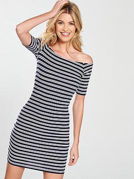 v-by-very-basic-bardot-jersey-dress-printed