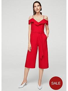 mango-bow-ruffled-jumpsuit-red