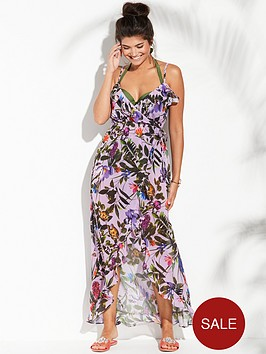 v-by-very-chiffon-ruffle-wrap-beach-maxi-dress-floral-print