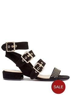 miss-selfridge-studded-gladiator-flat-sandal