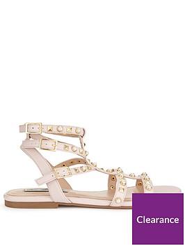 miss-selfridge-t-bar-studded-gladiator-sandal-nudenbsp