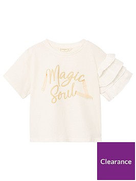 mango-girls-ruffle-sleeve-slogan-t-shirt