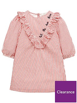 mango-girls-stripe-ruffle-textured-dress