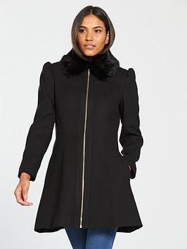 v-by-very-zip-front-skater-coat