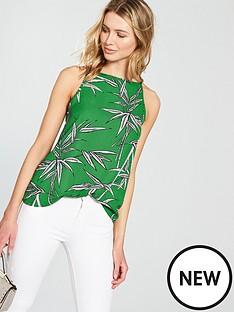 warehouse-bamboo-high-neck-cami-green
