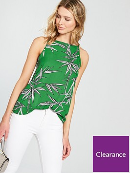 warehouse-bamboo-high-neck-cami-green