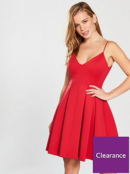 miss-selfridge-petite-scuba-prom-dress-rednbsp