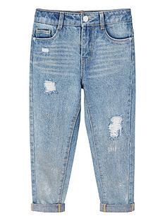 mango-girls-metallic-ripped-regular-fit-jeans