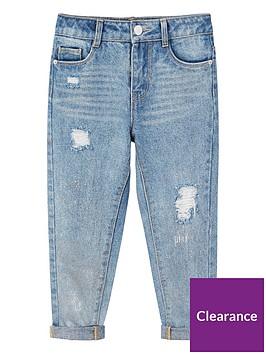 mango-girls-metallic-ripped-regular-fit-jeans