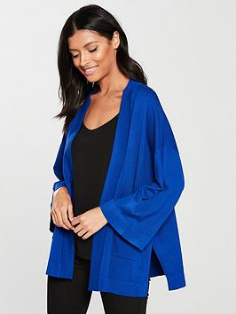 v-by-very-kimono-sleeve-edge-to-edge-cardigan-cobalt-blue