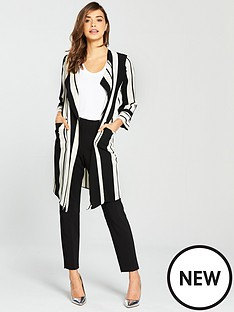 wallis-cut-about-stripe-duster-monochrome