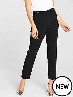 wallis-cotton-luxe-trouser-black