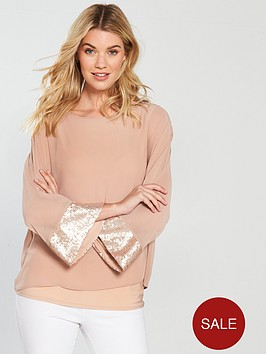 wallis-sequin-panel-top-rose
