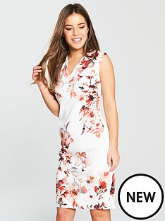 wallis-petite-floral-scuba-dress