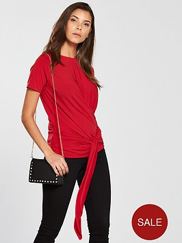 v-by-very-wrap-front-t-shirt-rednbsp