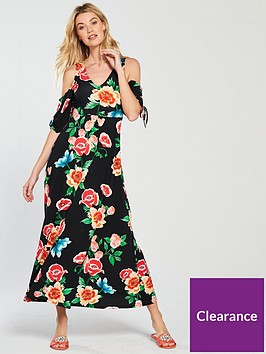 v-by-very-ruched-sleeve-jersey-maxi-dress