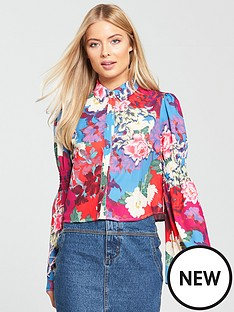 lost-ink-lost-ink-shirred-sleeve-floral-printed-shirt