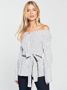 lost-ink-bardot-stripe-tie-waist-blouse