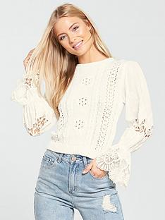 lost-ink-broderienbspanglaise-sleeve-lightweight-knitted-jumper-white