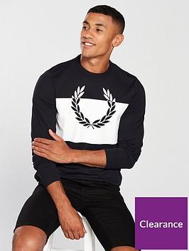 fred-perry-mens-blocked-laurel-wreath-long-sleeve-t-shirt-navy