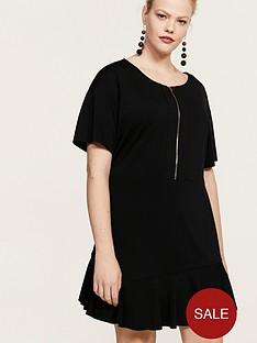 violeta-plus-size-zip-front-dress-black