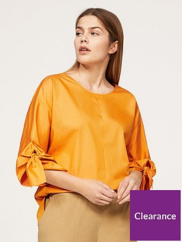 violeta-plus-size-wrap-blouse-yellow