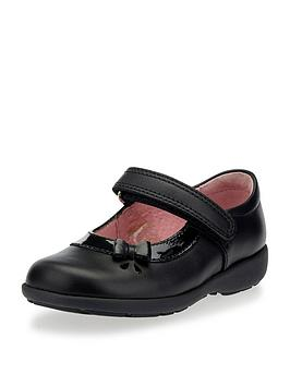 Start-Rite Start-Rite Maria Rip Tape Strap School Shoes - Black Picture