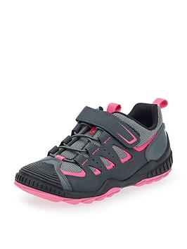 Start-Rite Start-Rite Charge Girls Lace Up Trainer - Grey/Pink Picture