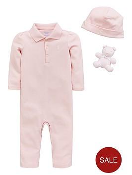 ralph-lauren-baby-girls-coverall-hat-amp-teddy-gift-set