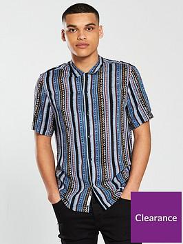 river-island-short-sleeve-aztec-print-shirt
