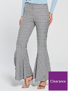 v-by-very-flared-hem-check-trouser