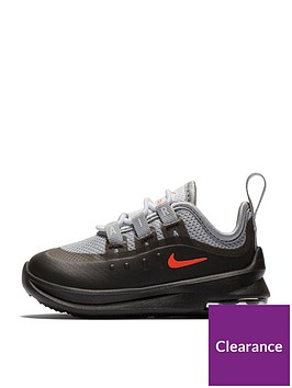 buy popular dd009 08eaa Nike Air Max Axis Infant Trainer - Dark Grey Red