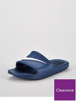 f479fc879a7ca Nike Kawa Shower Junior Slider Sandals - Blue