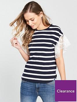 v-by-very-stripe-crochet-sleeve-jersey-t-shirt-multi