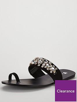 v-by-very-cairo-jewel-trim-toe-post-sandal-black