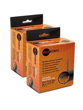velowurks-26-x-150-210rdquo-presta-valve-self-sealing-inner-tubes-pack-of-2