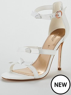 michelle-keegan-leather-bow-trim-minimal-sandal-white