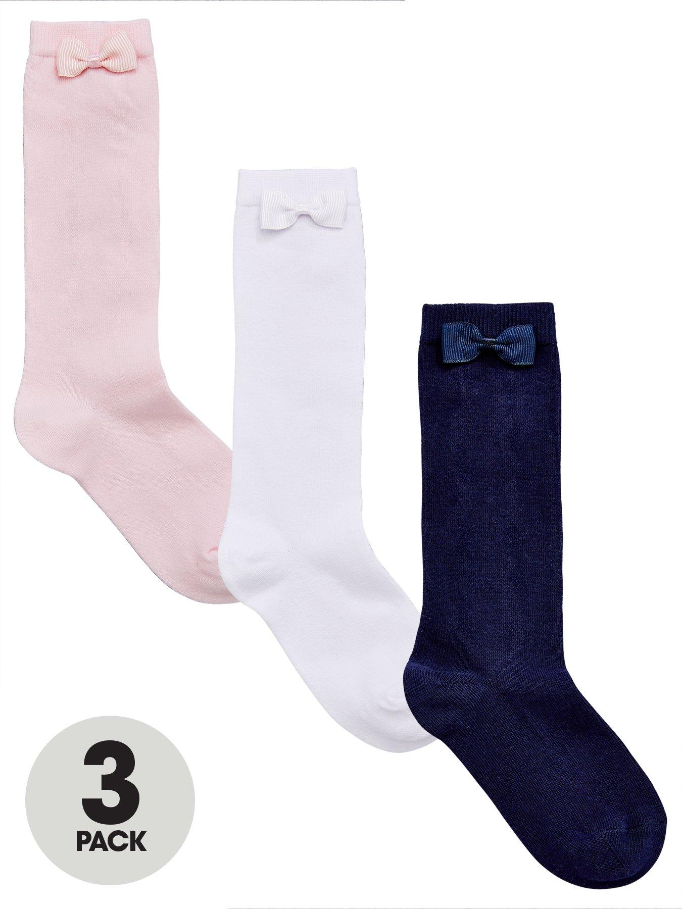Nautica Girls 3-Pack Knee Socks