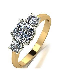 moissanite-the-royal-trilogy-9ct-gold-cushion-centre-14ctnbsptotal-equivalentnbspmoissanite-ring