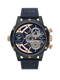 police-police-scythe-blue-multi-dial-blue-leather-strap-gents-watch