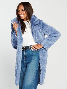 v-by-very-faux-fur-coat-blue
