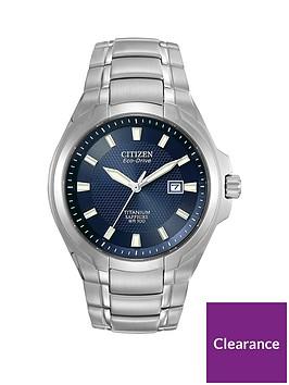 citizen-eco-drive-blue-dial-titanium-bracelet-mens-watch