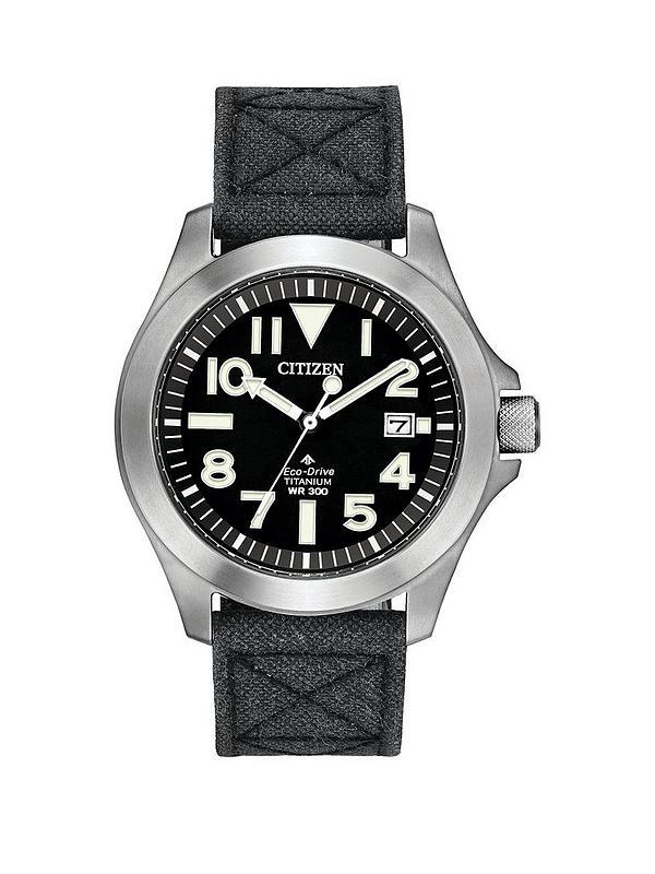 más barato de calidad superior proveedor oficial Eco-Drive Super Titanium Black Dial Black Kevlar Strap Mens Watch