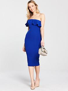 ax-paris-one-shoulder-frill-bodycon-dress-bluenbsp