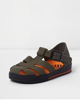 river-island-mini-boys-khaki-jelly-cage-sandals