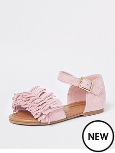 river-island-mini-girls-pink-fringed-sandal