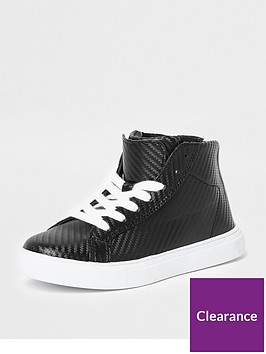 river-island-boys-black-textured-high-top-trainers