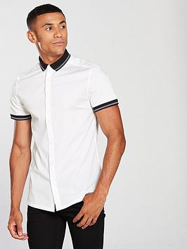 v-by-very-slim-fit-short-sleeved-rib-collar-shirt