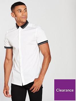 v-by-very-slim-fit-short-sleeved-rib-collar-shirt