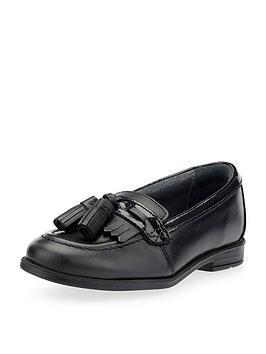 start-rite-girls-school-tassle-loafer-black